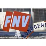 FNV op de barricade in Brussel tegen e-kaart