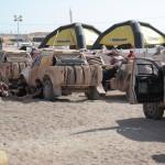 Hogedrukreinigers Kärcher in actie tijdens Dakar