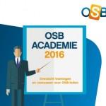 Brochure met trainingen van OSB online