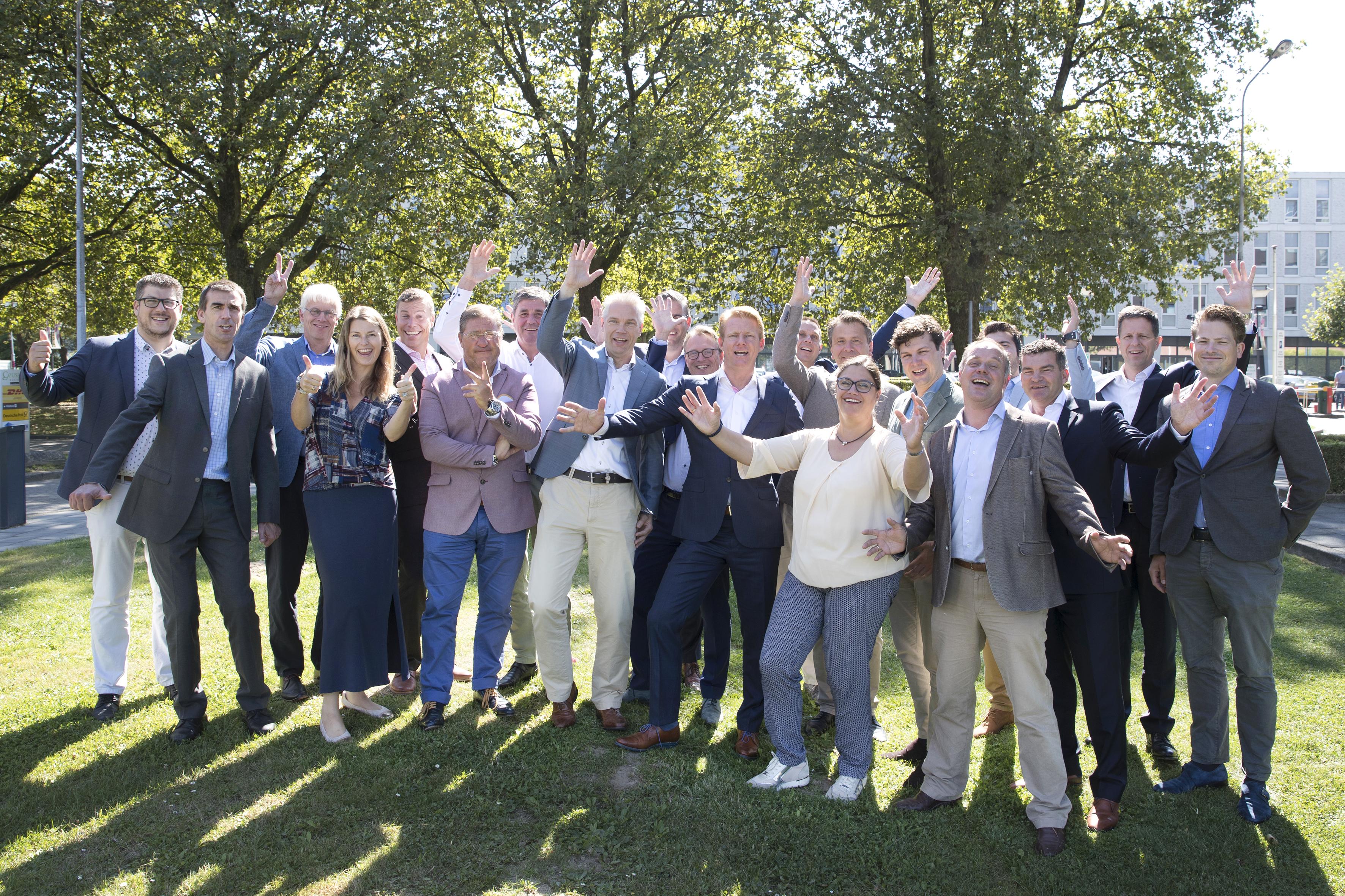 Het team van SCA/Tork dat het 32e Nationaal Toiletonderzoek uitvoerde.
