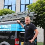 Schoonmaakbedrijf Jelle Threels: Gelukkig op de ladder