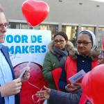 Schoonmakers Erasmus Universiteit demonstreren voor de tweede keer