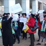 Waarschuwingen voor demonstrerende schoonmaaksters Erasmus Universiteit