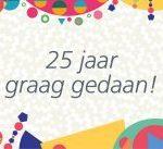 Novon viert 25-jarig jubileum met donaties aan 25 goede doelen