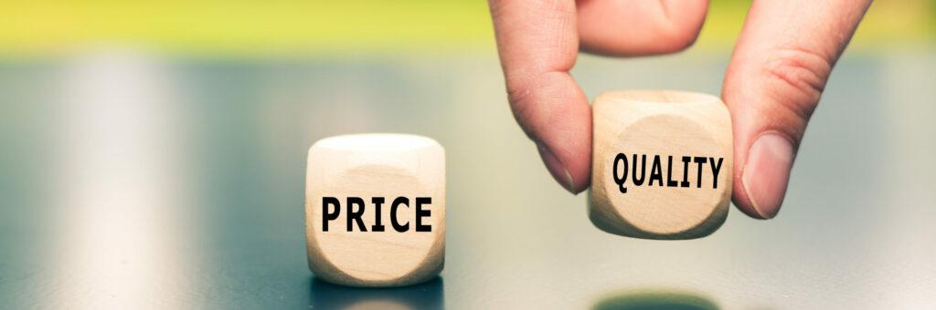 Bij het aanbesteden van schoonmaak moet je goed nadenken over de gewenste prijs-kwaliteitverhouding