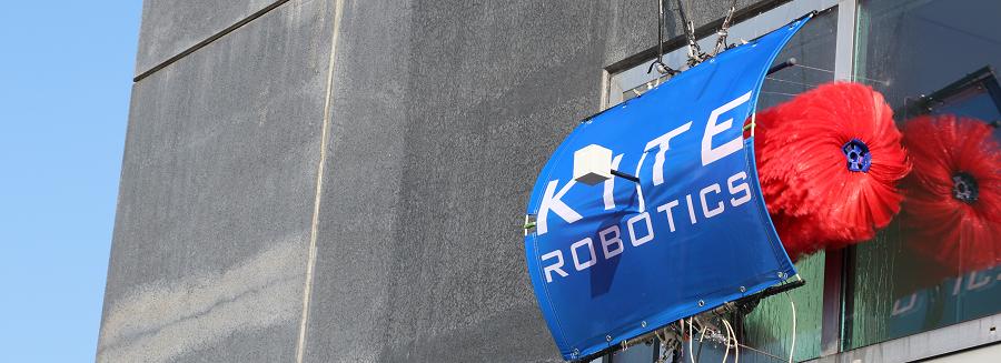 Gevelreiniging met Kite Robot