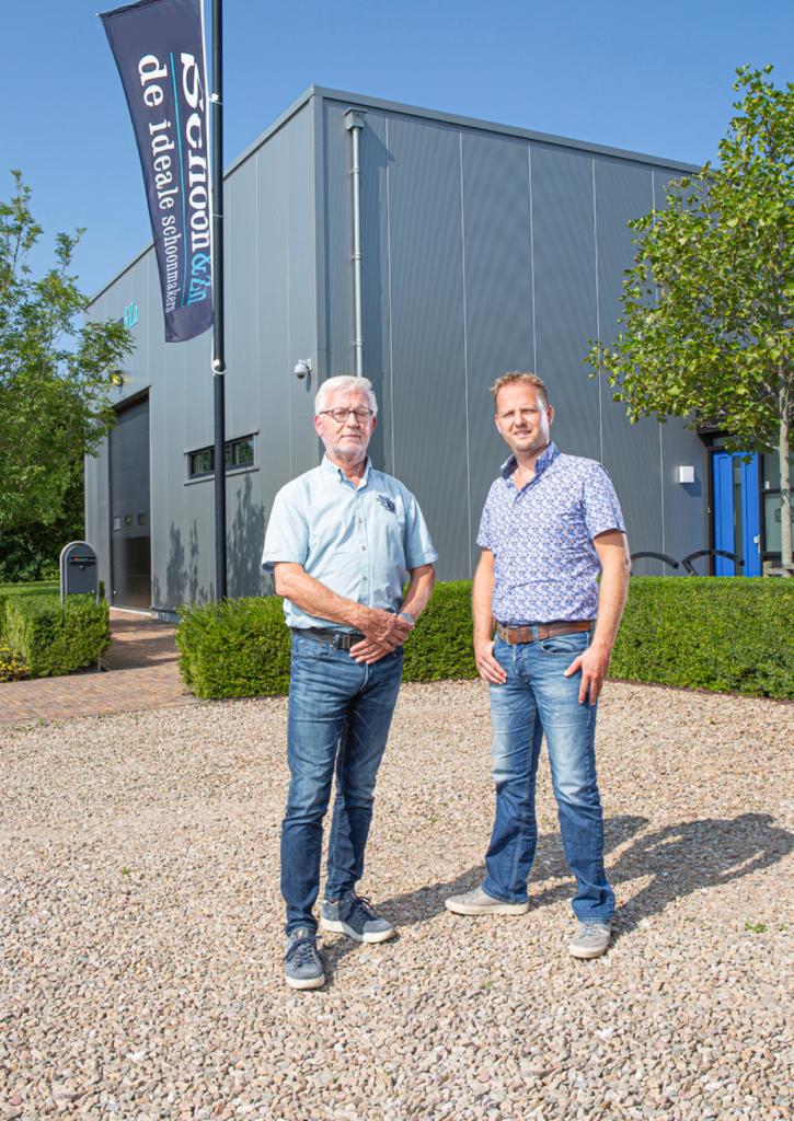 Sjoerd (links) en Sieds Westra van schoonmaakbedrijf Schoon&Zn